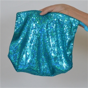 B315B-TQ - Sequin Money Bag (Turquoise)