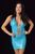 B323TQ - Sparkle Surprise Dress with Rhinestones & Thong (Turquoise)