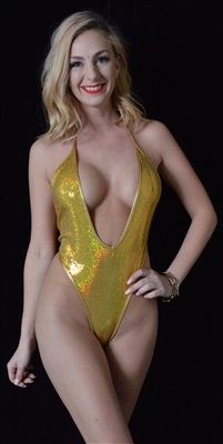 B332GD - Sequin Romper (Gold)