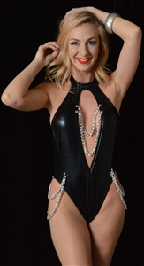 B343 - Black Magic Romper w/Chains