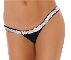 G108S -  Sequin Trimmed Butterfly Thong