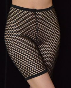G243F-BK - Diamond Mesh Bikier Shorts - Black