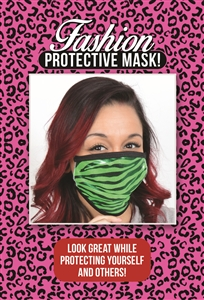 M201 - Green Zebra Mask (Packaged)