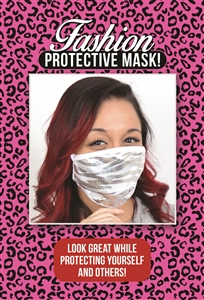 M202 - Silver Zebra Mask (Packaged)