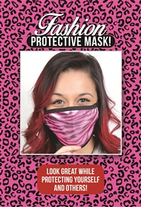 M203 - Hot Pink Zebra Mask (Packaged)
