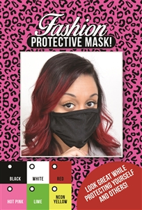 M207 - Lycra Mask (Packaged) *6 Colors! - Black