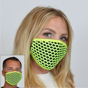 M211 - Neon Diamond Mesh Mask