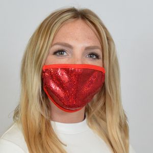 M235 - Red Sequin Mask