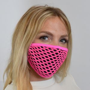 M239 - Pink Diamond Mesh Mask