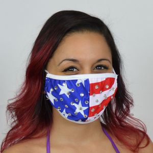 M244 - Studded Patriotic Mask