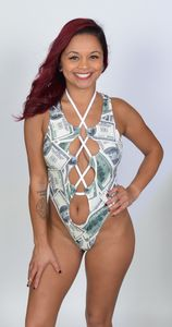 MNY105 - Money Print Gigi Romper