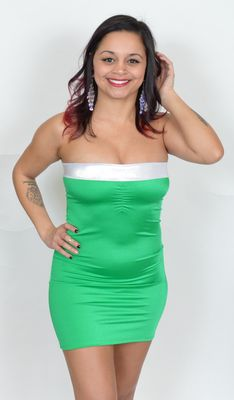 SP115 - Irish Green Tube Dress with Thong