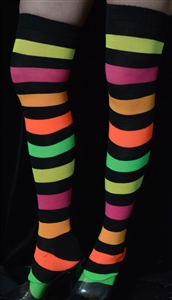 Z921ST - Multi Color Strip Stockings