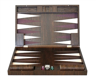 Luxury Smoked oak Backgammon Set