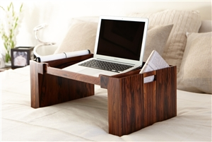 Luxury Bed Trays in Santos Rosewood