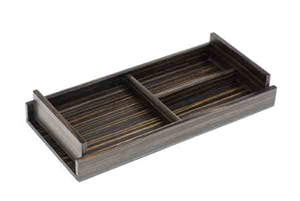 Empty-Your-Pockets Trays in ebony wood