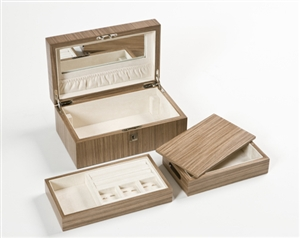 Jewellery Boxes in beautiful Warm Walnut