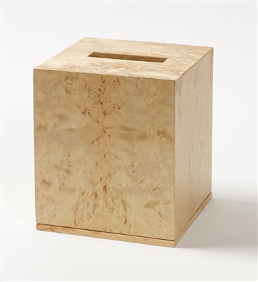 Luxury Tissue Box in elegant karelian birch