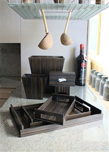 Luxury Kitchen Accessories in dark ebony