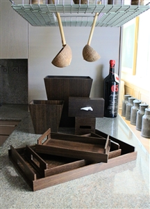 Luxury Kitchen Accessories in Smoked Oak