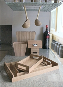 Luxury Kitchen Accessories in fresh light wood