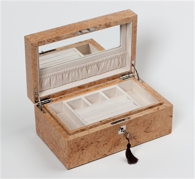 Luxury Jewellery Box in exceptional Karelian Birch