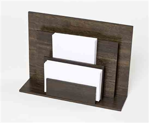 Letter Holders in smoke oak