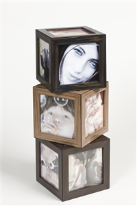 Large Photo Cubes with unique magnetic frame - iWOODESIGN Top Luxury Gifts