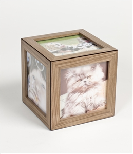 Large Photo Cubes by iWOODESIGN - Unique magnetic frame for ease.