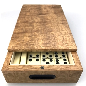 Luxury Dominoes Set in Exceptional Tamo Ash