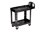 2-Shelf Utility Cart with Lipped Shelf