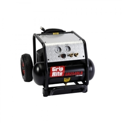 Grip-Rite GR2540LR 12 AMP 2.5HP 4 Gallon 1725RPM Compressor with Wheels