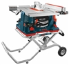 Bosch 10 In. REAXX Jobsite Table Saw with Gravity-Rise Wheeled Stand