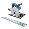 "Makita 6-1/2"" Circular Plunge Saw with 55"" Guide Rail"