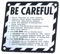 BE-CAREFUL PLATE - 1961-1972