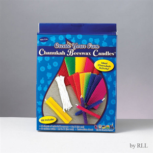 Chanukah Beeswax Candle Kit with materials for 44 candles