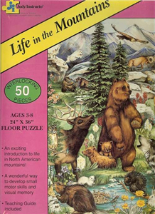 Life in the Mountains Floor Puzzle - 50 piece