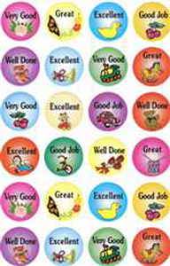 English Encouragement Stickers - 24/sheet, 10 pack