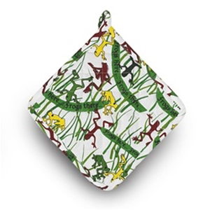 Frogs Everywhere Passover Pot Holder