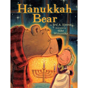 The classic Hanukkah Bear story by Eric Kimmel in board book format