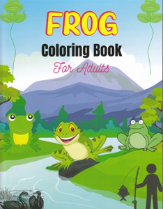 Frog Coloring Book for Adults - 25 Designs!