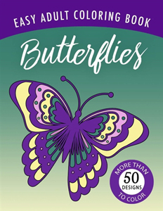 Butterflies Easy Adult Coloring Book