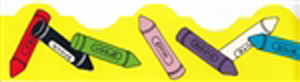 Bright Borders - Crayons - 14 pack - 3 ft. x 2.25 in.
