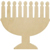 Menorah Cut-Out - Wood Craft
