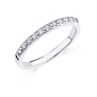 1/10ct diamond wedding band in 10K white gold