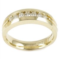 Man's 1/2 carat diamond 14K yellow gold ring