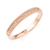 1/10ct diamond wedding band in 14K rose gold