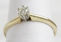 Diamond Solitaire Ring in 14K Yellow Gold Ring