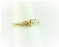 Solitaire 14K Yellow Wedding Set
