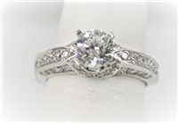 Solitaire Semi-Mount with Channel Set Diamonds